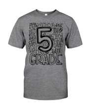 FIFTH GRADE TYPO Classic T-Shirt front