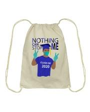 ROYAL BLUE - NOTHING CAN STOP ME Drawstring Bag thumbnail