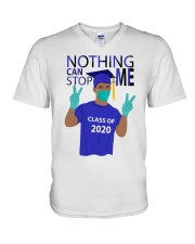 ROYAL BLUE - NOTHING CAN STOP ME V-Neck T-Shirt thumbnail