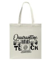 QUARANTINE AND TEACH Tote Bag thumbnail