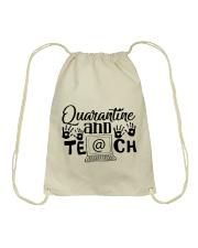 QUARANTINE AND TEACH Drawstring Bag thumbnail