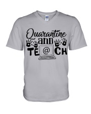 QUARANTINE AND TEACH V-Neck T-Shirt thumbnail