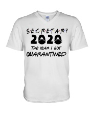 SECRETARY V-Neck T-Shirt tile