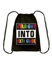 STRAIGHT INTO SIXTH GRADE Drawstring Bag thumbnail