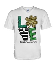 MUSIC LIFE LUCK V-Neck T-Shirt thumbnail