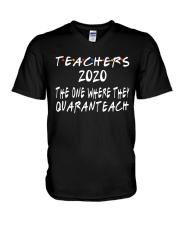 TEACHERS QUARANTEACH V-Neck T-Shirt thumbnail