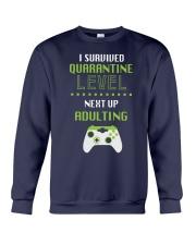 ADULTING LEVEL Crewneck Sweatshirt thumbnail