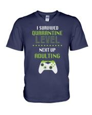 ADULTING LEVEL V-Neck T-Shirt thumbnail