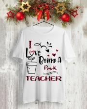 PRE-K TEACHER Classic T-Shirt lifestyle-holiday-crewneck-front-2