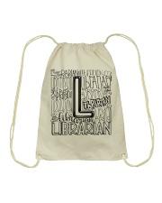 LIBRARIAN TEACHER DESIGN Drawstring Bag thumbnail