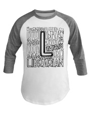 LIBRARIAN TEACHER DESIGN Baseball Tee thumbnail