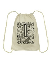FIRST GRADE TYPO Drawstring Bag thumbnail