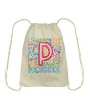 PRESCHOOL TYPOGRAPHIC Drawstring Bag thumbnail