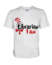 LIBRARIAN I AM V-Neck T-Shirt thumbnail