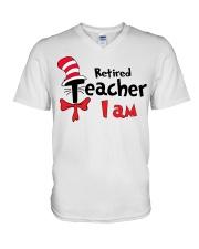 RETIRED TEACHER I AM V-Neck T-Shirt thumbnail