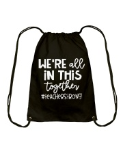 WE ARE ALL IN THIS TOGETHER Drawstring Bag thumbnail