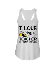 BEING A TEACHER OF TINY HUMANS Ladies Flowy Tank thumbnail