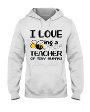 BEING A TEACHER OF TINY HUMANS Hooded Sweatshirt thumbnail