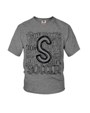 SOCCER TYPOGRAPHY Youth T-Shirt thumbnail