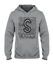 SOCCER TYPOGRAPHY Hooded Sweatshirt thumbnail