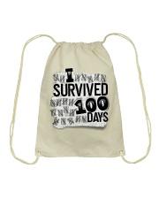 I SURVIDED 100 DAYS Drawstring Bag thumbnail