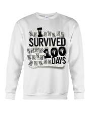 I SURVIDED 100 DAYS Crewneck Sweatshirt thumbnail