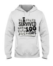 I SURVIDED 100 DAYS Hooded Sweatshirt thumbnail