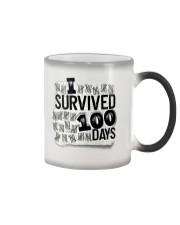 I SURVIDED 100 DAYS Color Changing Mug thumbnail