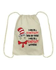 BE A LUNCH LADY Drawstring Bag thumbnail