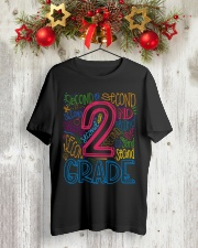 TYPO SECOND GRADE TEE Classic T-Shirt lifestyle-holiday-crewneck-front-2