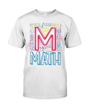 MATH TEACHER TYPOGRAPHIC  Classic T-Shirt front