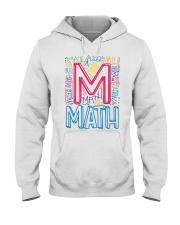 MATH TEACHER TYPOGRAPHIC  Hooded Sweatshirt thumbnail