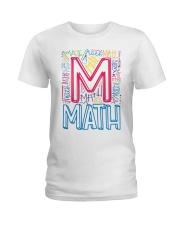MATH TEACHER TYPOGRAPHIC  Ladies T-Shirt thumbnail
