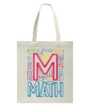 MATH TEACHER TYPOGRAPHIC  Tote Bag thumbnail