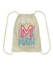 MATH TEACHER TYPOGRAPHIC  Drawstring Bag thumbnail
