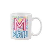 MATH TEACHER TYPOGRAPHIC  Mug thumbnail