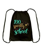 100 SPARKLY DAYS OF SCHOOL Drawstring Bag thumbnail