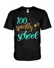 100 SPARKLY DAYS OF SCHOOL V-Neck T-Shirt thumbnail