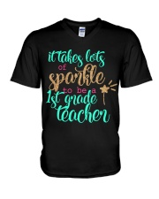 1ST GRADE TEACHER V-Neck T-Shirt thumbnail