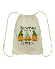 SHENANIGANS WITH MY GNOMIES Drawstring Bag thumbnail