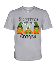 SHENANIGANS WITH MY GNOMIES V-Neck T-Shirt thumbnail