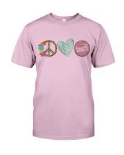 PEACE LOVE TEACH Classic T-Shirt thumbnail