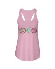 PEACE LOVE TEACH Ladies Flowy Tank thumbnail