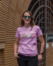 PEACE LOVE TEACH Ladies T-Shirt lifestyle-women-crewneck-front-2