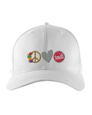 PEACE LOVE TEACH Embroidered Hat thumbnail
