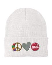 PEACE LOVE TEACH Knit Beanie thumbnail