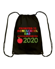 PROMOTED TO HOMESCHOOL DAD Drawstring Bag thumbnail