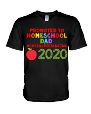 PROMOTED TO HOMESCHOOL DAD V-Neck T-Shirt thumbnail