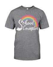 SCHOOL COUNSELOR RAINBOW Classic T-Shirt front