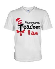 KINDERGARTEN TEACHER I AM V-Neck T-Shirt thumbnail